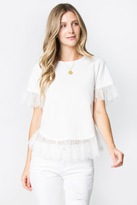 Sweetheart Lace Tee