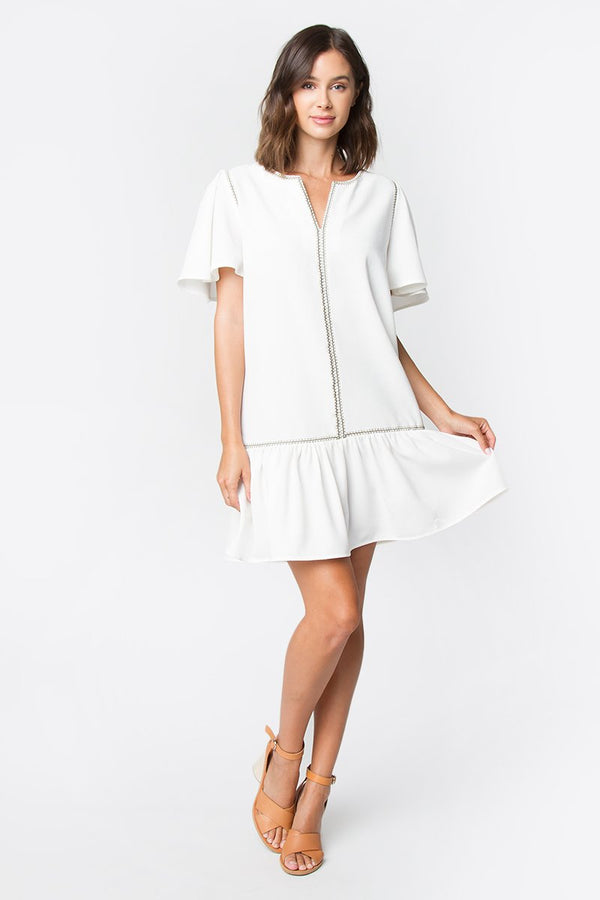 Maizee Ruffle Sleeved Dress