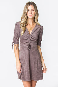 Tanna Front Tie Sleeve Dress