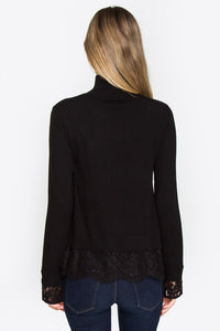 Zola Mock Neck Lace Sweater