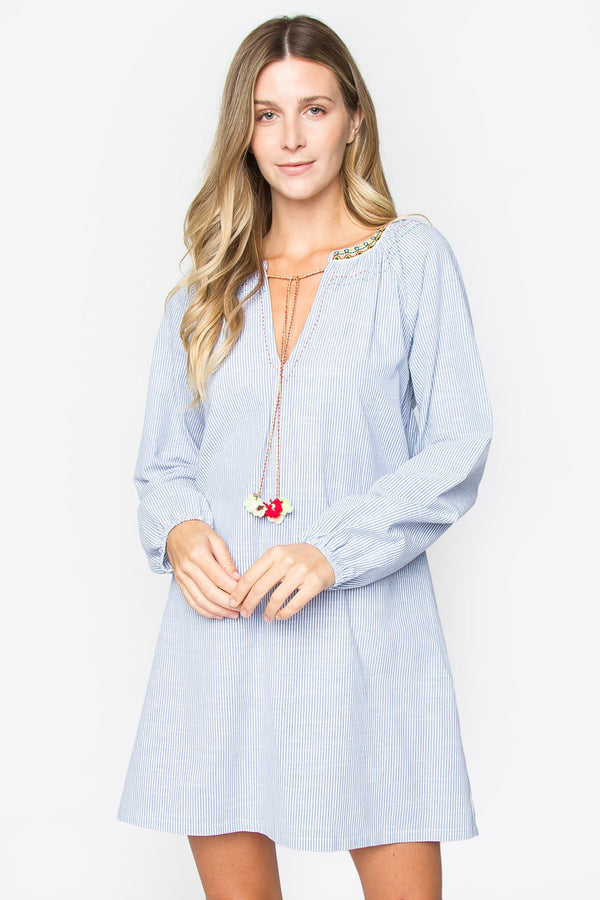Noely Embroidered Dress