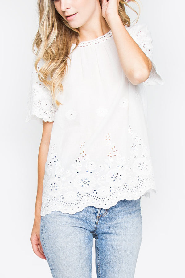 Delightful Scallop Top