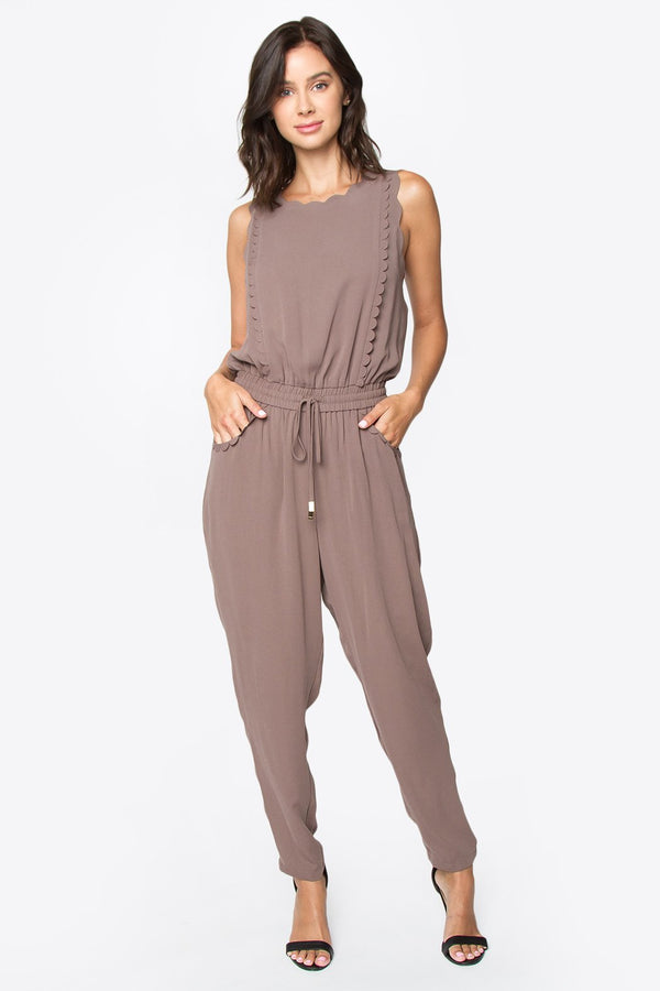 Elyce Scallop Jumpsuit