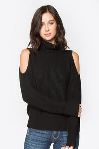 Griffin Cold Shoulder Turtle Neck Sweater