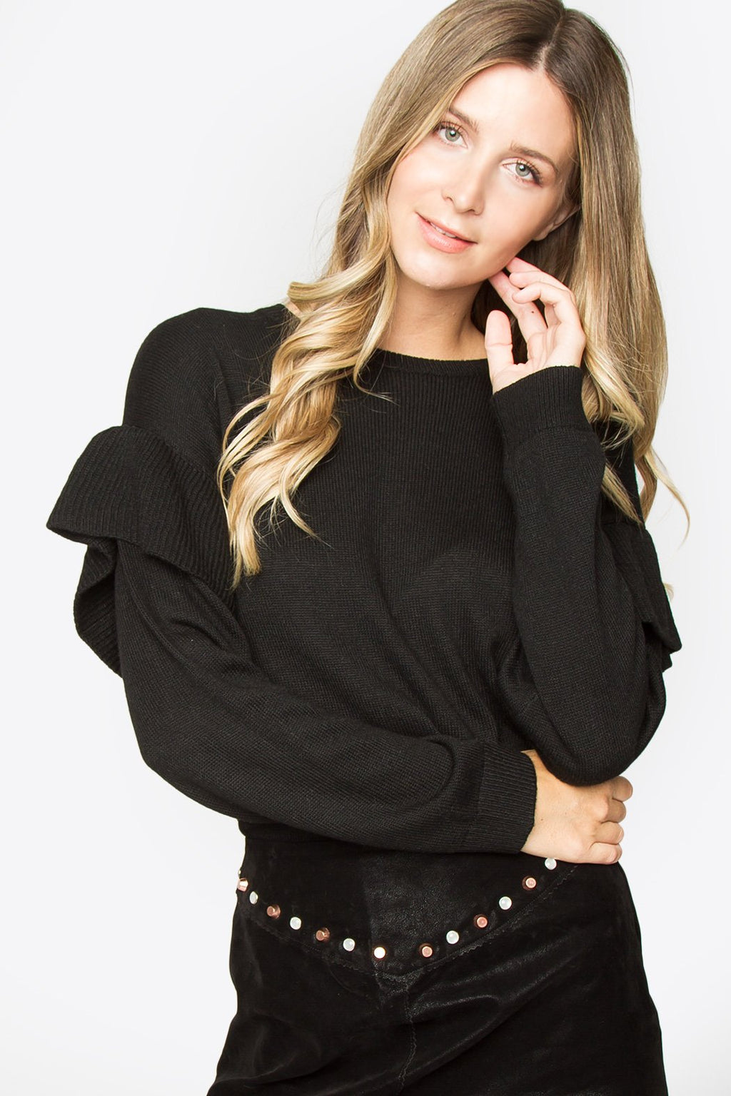 Kayson Oversized Ruffle Sweater