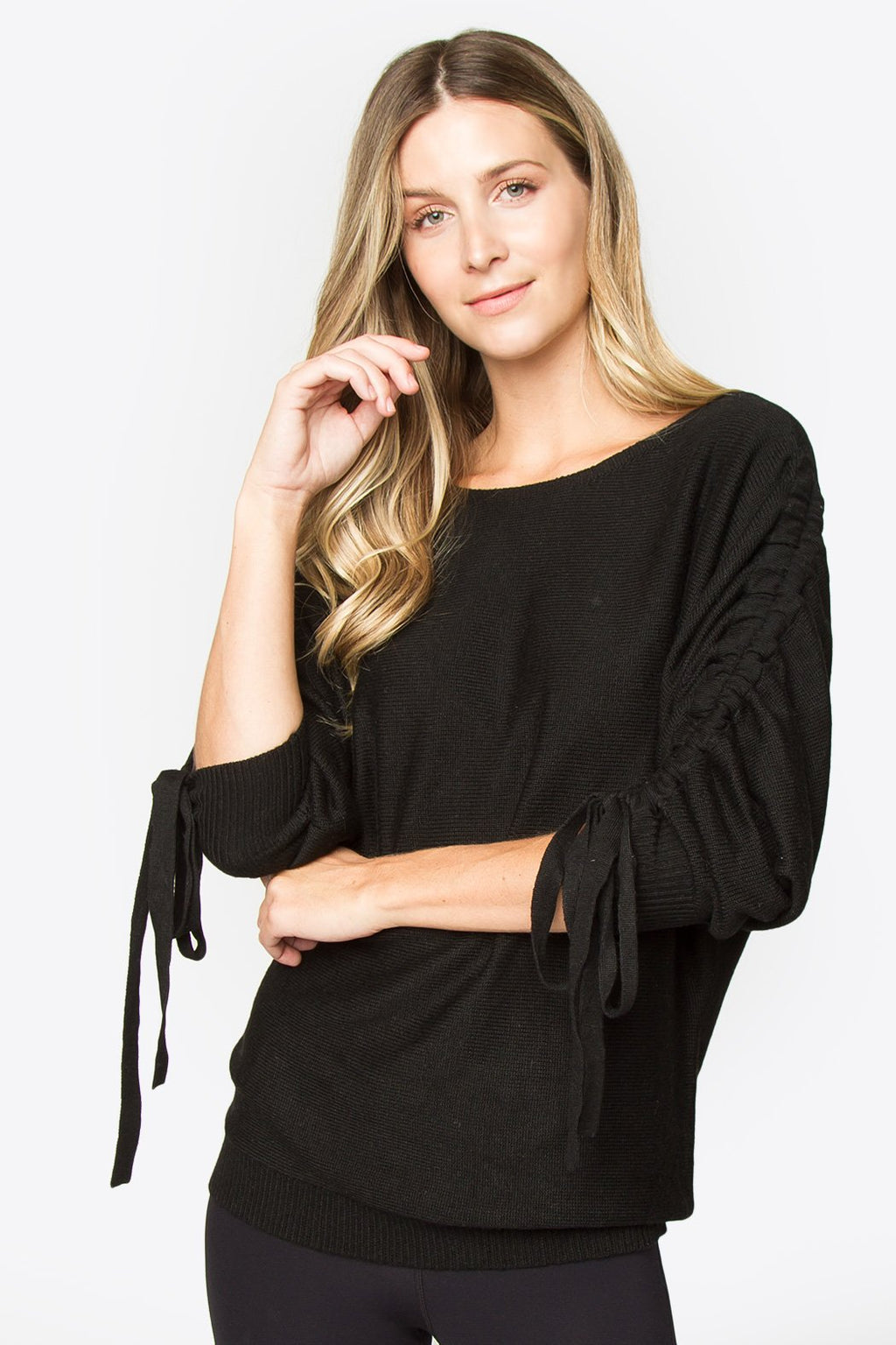 Geovana Tie Sleeve Sweater