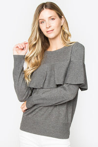 Tora Cape Detail Sweater