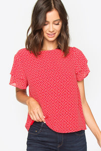 Wyatt Double Ruffle Top