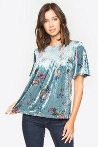 Izzie Velvet Top