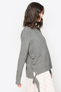 Akito Lace Up Sweater