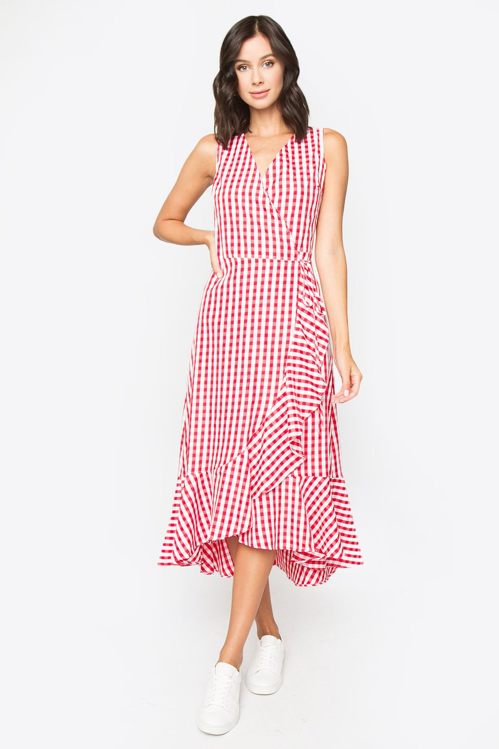 Doni Gingham Midi Dress