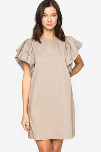 Mika Ruffle Sleeve Dress