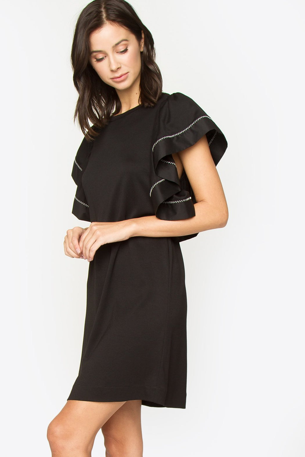 Gila Ruffle Sleeve Dress
