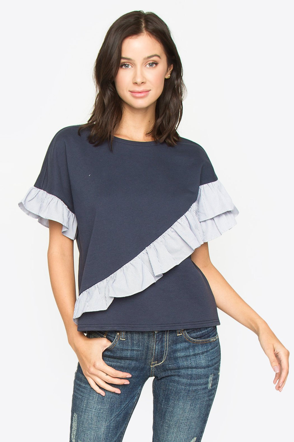 Cam Ruffle Detail Top