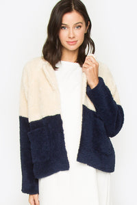 Calle Color Block Fur Jacket