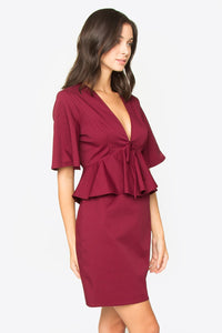 McKinley Peplum Dress