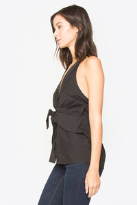 Judie Button Down Halter Top