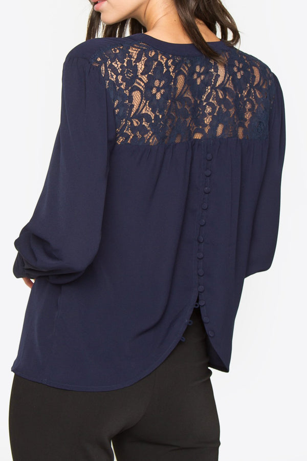 Beryl Back Button Blouse