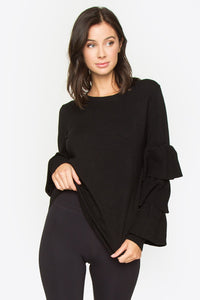 Archer Tiered Sleeve Sweater