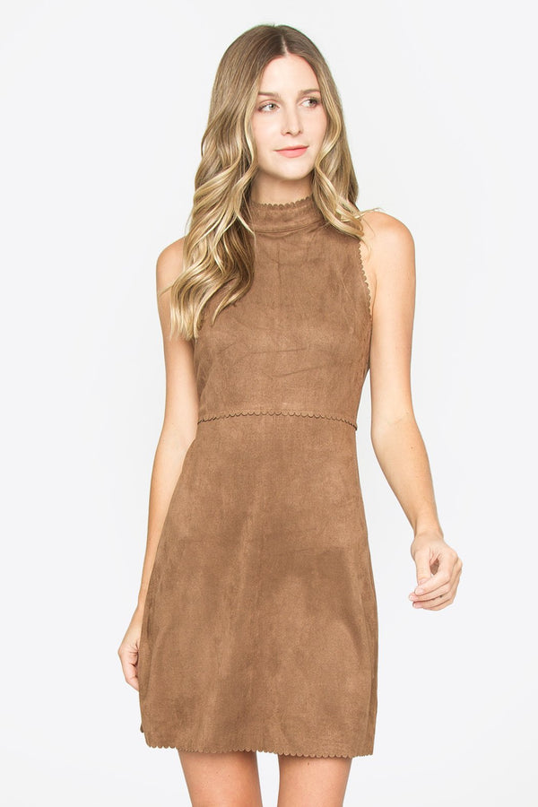 Leora Suede Dress
