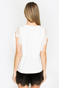 Kendall Lace Sleeve Top