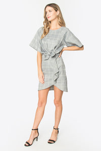 Mina Plaid Wrap Dress