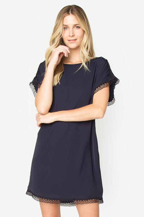 Whimbrel Eyelet Trim Dress