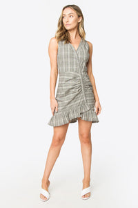 Jazi Sleeveless Plaid Dress