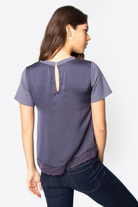 Miss Independent Lace Trim Top