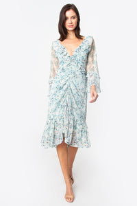 Gables Floral Ruffle Dress
