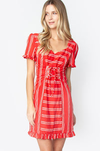 Cavalier Lace Up Dress