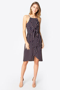 Galena Front Tie Midi Dress