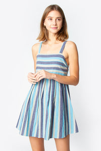 Paltrow Pleated Stripe Dress