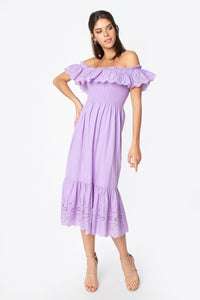 Betsy Off The Shoulder Midi Dress