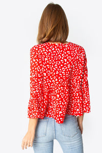 Bahia Long Sleeve Ruffle Blouse