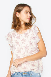 Eviana Ruffle Trim Top