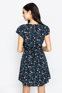 Emma Floral Wrap Dress