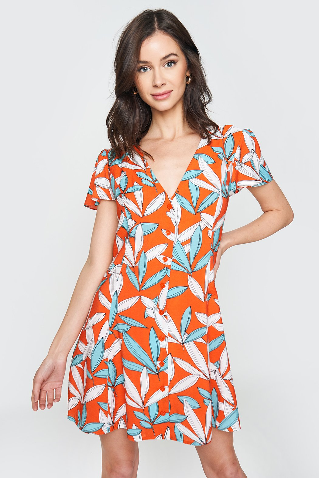 e542420e0e Rosita Button Front Shirt Dress – Sugarlips
