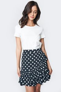 Dalila Polka Dot Mini Skirt