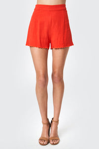 Rich In Love Scallop Edge Shorts