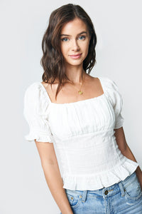Better Together Puff Sleeve Crop Top