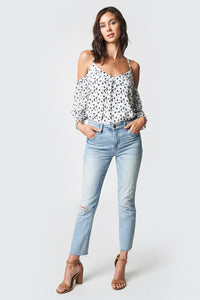 Drive Me Crazy Cold Shoulder Top