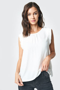 Sweet On You Pleated Sleeve Blouse