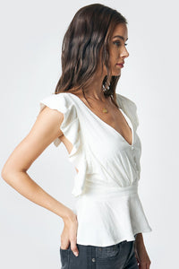 Pacifica Open Back Ruffle Top