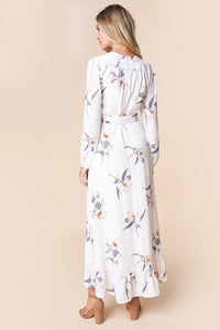 At Last Floral Wrap Maxi Dress