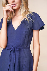 Alisa Flutter Sleeve Mini Dress