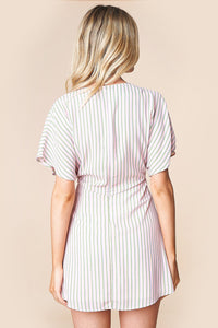 Mexicali Mama Striped Kimono Mini Dress