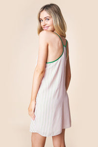 Mexicali Mama Contrast Piping Cami Dress