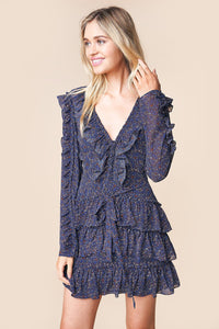 Walk On By Floral Ruffle Mini Dress