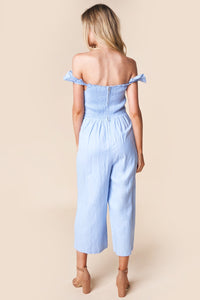 Never Been Kissed Ruffle Trim Jumpsuit